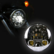 """5 3/4"""" LED Projector Headlight Fit Harley Dyna Softail Sportster IRON"""