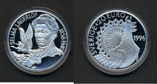 1996 Sweden Large Proof Silver 20 Euro Selma Lagerhof/ Goose
