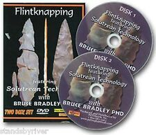 Flintknapping-Solutrean Technology, 2 DVD Set, Dr. Bruce Bradley