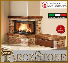 ARCKSTONE MONTEGRAPPA Camino legna aria ventilata CM P05 Rustico panca DX 11,1KW