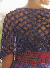 Crochet Pattern ~ LADIES OPEN WEAVE SHAWL ~ Instructions