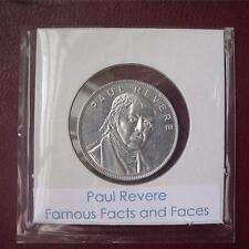 Paul Revere - Franklin Mint Coin-Medal, Famous Facts and Faces