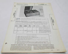 Vintage Photofact Folder Detrola Chassis Model 7270 Superheterodyne Parts Manual