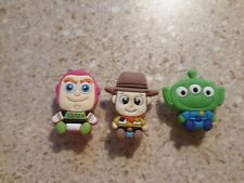 Lot of 3 Toy Story shoe charms for Crocs shoes. Other uses Craft, Scrapbook