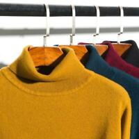 Men's Collar Cashmere Long Sleeve Winter Warm Sweater Turtleneck Pullover RBWN
