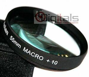 55mm Macro +10 Close-Up Lens Filter No.10 Film Digital Movie Camera 55 mm