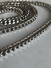 10k White gold  Chain 3.5 MM Franco Cut Box SIZE 44 Inches  very long & Heavy