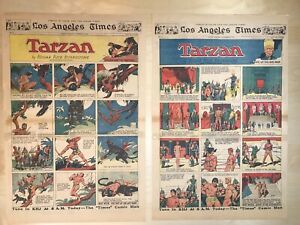 Tarzan Sunday Pages, 1932, 34 Full Sized Pages , Hal Foster Art