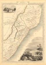 NATAL & KAFFRARIA. Eastern Cape. Durban. South Africa TALLIS & RAPKIN 1851 map