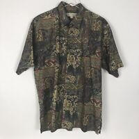 Tori Richard Honolulu Mens Lawn Cotton Short Sleeve Button Front Shirt Size L