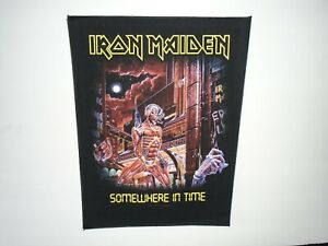 IRON MAIDEN SOMEWHERE IN TIME PRINTED BACK PATCH
