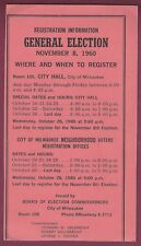 Voter Information Card, Milwaukee, Wisconsin, 1960 Election