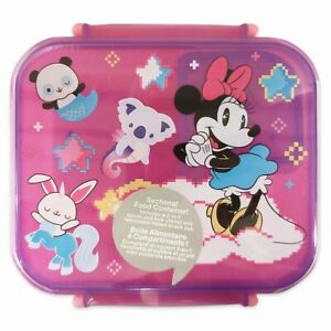 Disney Authentic Minnie Mouse Food Storage Container Set w/ Fork Spoon NWT