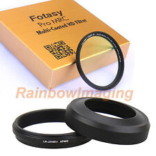 JJC LH-JX100II Black Lens Hood as LH-X100 +Filter for Fujifilm X100 X100s X