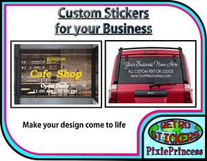Advertising Business Sticker Custom Sign Shop Store Decal Personalised Window