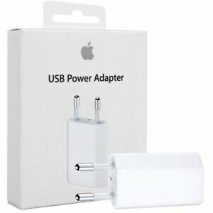 Chargeur Prise Apple Iphone Original Neuf Mural Bloc Prise Secteur USB 5W 1A