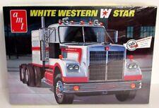 Blanco Western Star Camión Amt 724 1/25 Camión Kit de Modelismo