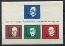 38681) GERMANY 1968 MNH** Adenauer s/s