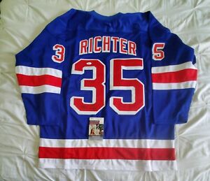 Rangers MIKE RICHTER signed autographed custom jersey JSA authenticated XL