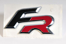"""Original SEAT Emblem/Schriftzug /Logo """"FR"""" in schwarz/chrom/rot"""