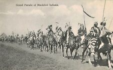 Blackfoot Indians (First Nations),Native Americans,Grand Parade,U.S-Canada,1909