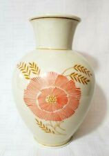 JAHRE Zeh Scherzer Germany Vase Bavaria Pottery Orange Poppy Harvest Fall Decor