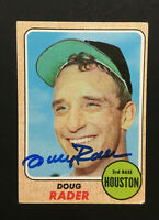 Doug Rader Astros signed 1968 Topps baseball card #332 Auto Autograph 1