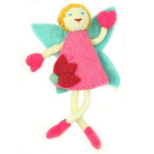 Blond Hair Doll Handmade Felt Tooth Fairy Pillow