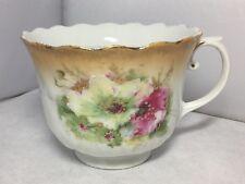 Vintage Victorian Edwardian Moustache Cup Floral Design