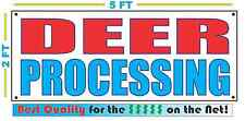 DEER PROCESSING Banner Sign NEW 2x5