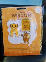 Disney Wisdom Collection - Nov 2019- lion king simba pumba, psst u cant hurt pin