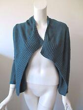 SOFT SURROUNDINGS Blue Aqua Open Front Slim Sleeve Cardigan Sweater XS