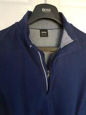 "Mens HUGO BOSS ""Black"" label 1/4 zip Jumper/Sweater size small/medium. RRP £149."