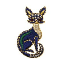 Id 0734 Exotic Egyptian Cat Patch Bastet Symbol Embroidered Iron On Applique