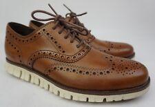 445736bc32b8 Cole Haan ZeroGrand Wingtip Oxford Men s British Tan Brown Shoes Size 7.5 M