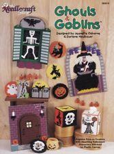 Ghouls & Goblins Plastic Canvas Halloween Witch Skeleton Ghost Pumpkin Skull Oop