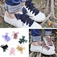 Femmes dames satin ruban lacets Flat soie sport chaussures de dentelle Meilleur