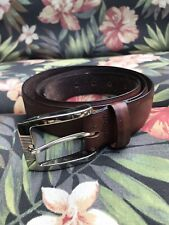 Tommy Bahama men's brown size 40 leather belt with silver buckle