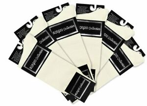 6 Pair of Biagio Solid IVORY / OFF-WHITE Solid Mens COTTON Dress SOCKS