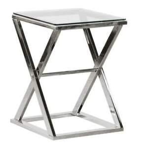 Steel X-Frame Side Table   RRP £295