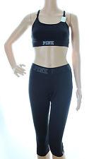 PINK Victoria's Secret Ultimate Yoga Extreme Crop Capris and Sports Bra Lot S
