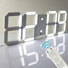 Remote Control Large LED Digital Wall Clock w/ Countdown Timer Temperature Date