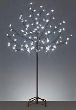 4' LED Lighted Cherry Blossom Flower Tree - Pure White Lights