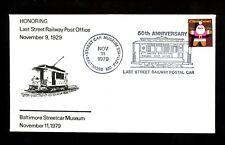 US Postal History Railroad Train Trolley Streetcar Museum 1979 Baltimore MD