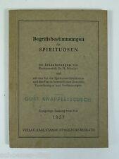 Begriffsbestimmungen für Spirituosen 1957