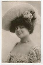 c 1908 Vintage French Theater Cabaret ELISE DE VERE music hall photo postcard