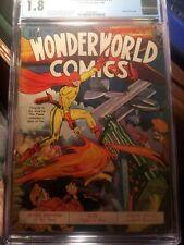 WONDERWORLD COMICS #8 CGC 1.8 **SCARCE LOU FINE COVER** ORIGIN OF THE FLAME! KEY