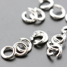 20pcs OPENED Sterling Silver Jump Rings-4mm (21 Gauge)