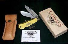 Camillus 716 Yello Jaket Knife & Sheath Dual Locking W/Packaging,Papers USA Made