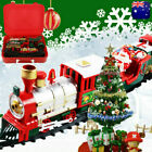 27Pc Christmas Train Set Track Music Sound Lights Kid Gift Toy XMAS Ornament